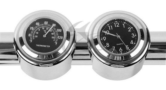 Relógio Universal De Temperatura/horas Custom/chopper/sport