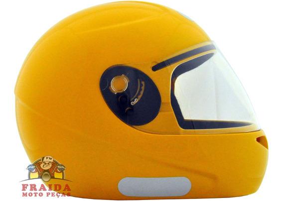 Capacete Fly F8 Amarelo Moto Taxi Tamanho 60