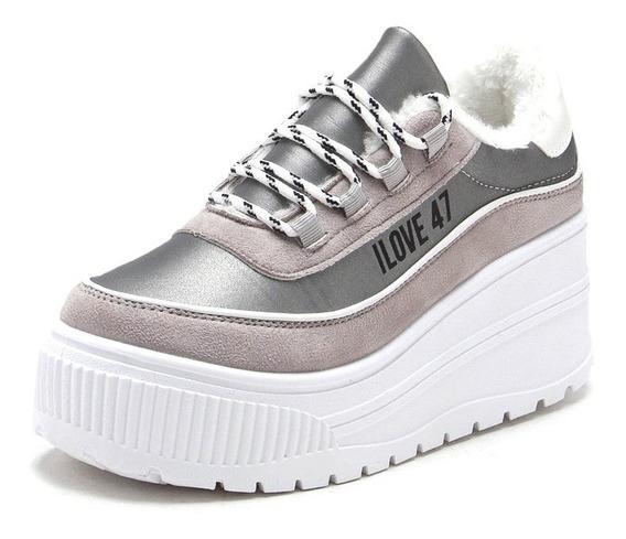 Zapatillas Mujer Urbanas Plataforma Sneakers Moda Rimini