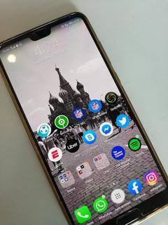Huawei P20 Pro Azul, Telcel, 128 Gb, 6 Gb Ram (seminuevo)