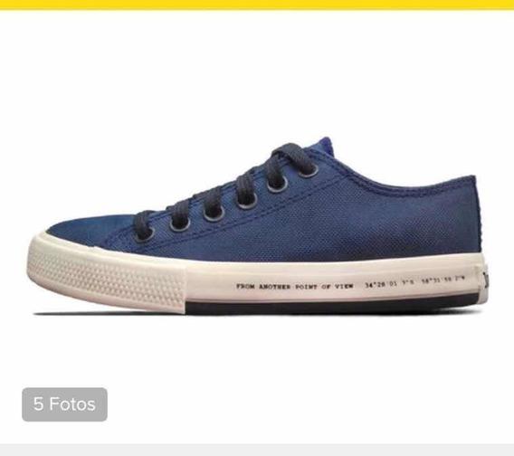 Zapatillas John Foos Azul Marino Talle 36, (24cm).