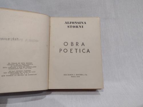 Imagen 1 de 8 de Obra Poetica Alfonsina Storni Ramon Roggero Tapa Dura