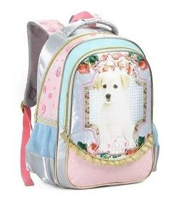 Mochila Infantil Cachorro Pets Costas Tam G Seanite Meninas
