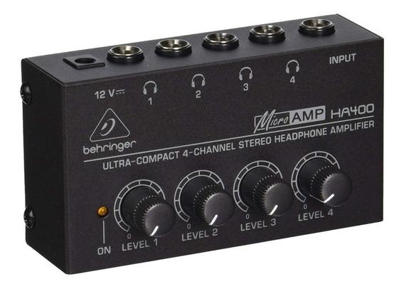 Amplificador Fones De Ouvido Microamp Ha400 Behringer Ha 400