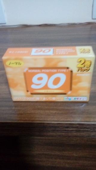 2 Fita K7 Daiso Japonesa 90 Minutos Lacrada