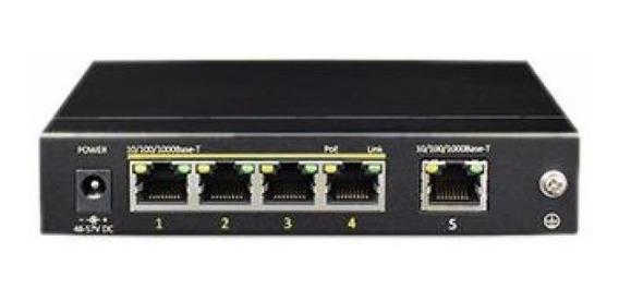Switch Cygnus Cctv 4 Puertos S1004-60 Ethernet Poe+ 1 Uplink