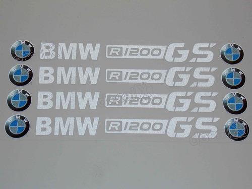 Adesivos Centro Roda Refletivo Moto Bmw R1200 Gs Rd9