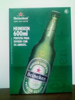 Placa Original De Cerveja Heineken Ótimo Estado