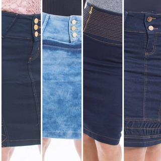 Kit 7 Lindas Saias Jeans Evangelicas Compre Frete/grátis