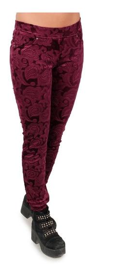 Pantalón Calza De Brocato, Simil Terciopelo, T002-4