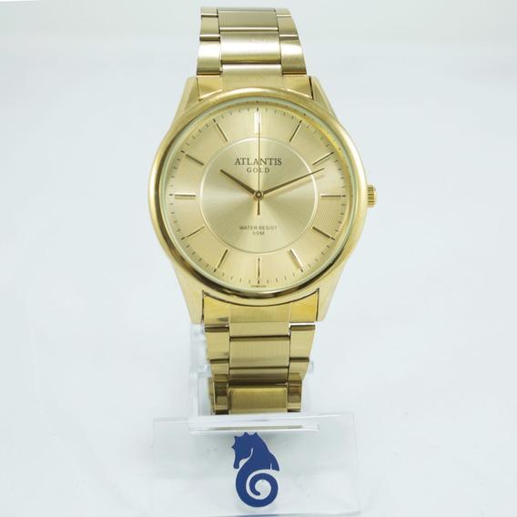 Relógio Feminino Dourado Atlantis Original Edição Limitada