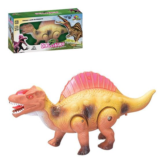 Dinossauro Espinossauro Com Som, Luz E Movimento Brinquedo