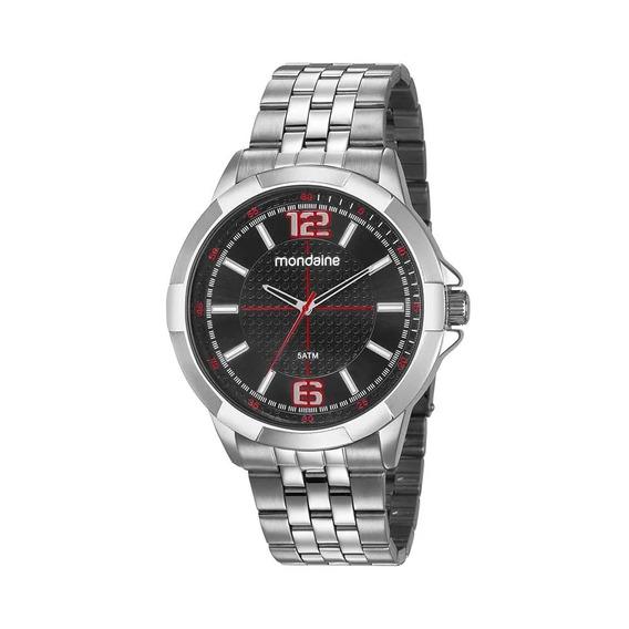 Relógio Original Masculino Analógico Mondaine Cromado C/ Nfe