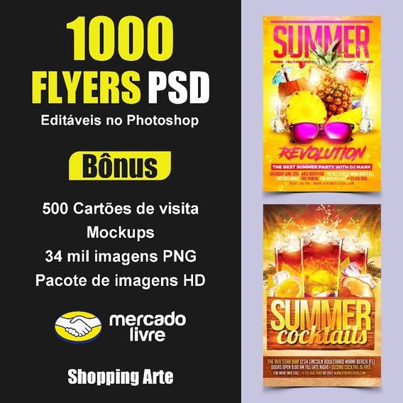 1000 Flyers Editáveis Psd + Bônus