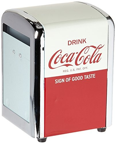 Tablecraft Cc381 coca-cola Dispensador De Servilletas, Medi
