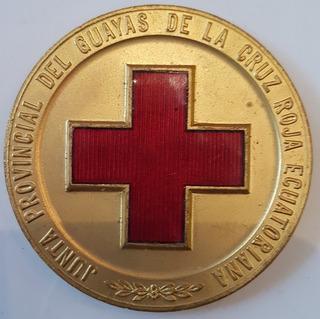 Medalla Junta Provincial Del Guayas Cruz Roja Ecuatoriana
