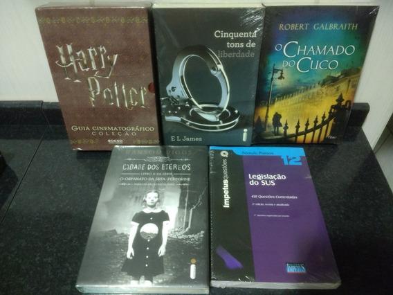Lote 5 Livro = Sus + 50 Tons + Harry Potter Lacrados Rjhm