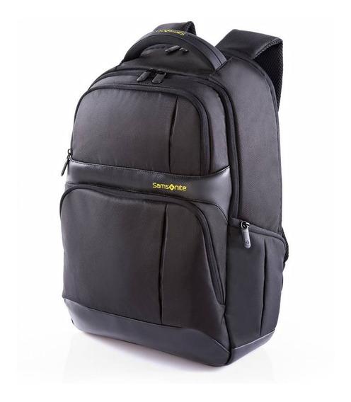 Mochila Samsonite Ikonn Iii Laptop Backpack 15.4 Preta E Amarela Envio Relâmpago Imediato