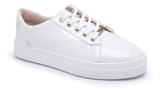 Tenis Branco Enfermagem Moleca Sola Alta Plataforma Feminino