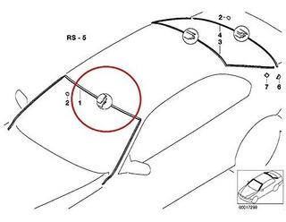 Original BMW 5 Serie E39 Parabrisas Trasero Moldura Juntas Set