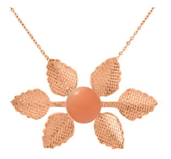 Colar Ouro Rosé Coral Podange