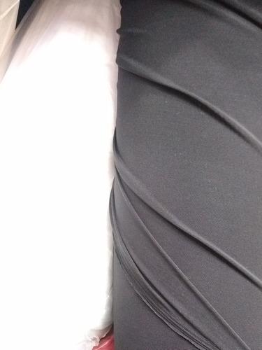 Tela Microtul Con Lycra Negra Y Blanco Doble Rebote  Precio