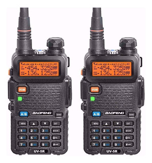 Kit 2 Radio Ht Uv-5r Comunicador Baofeng Dual Band Uhf Vhf