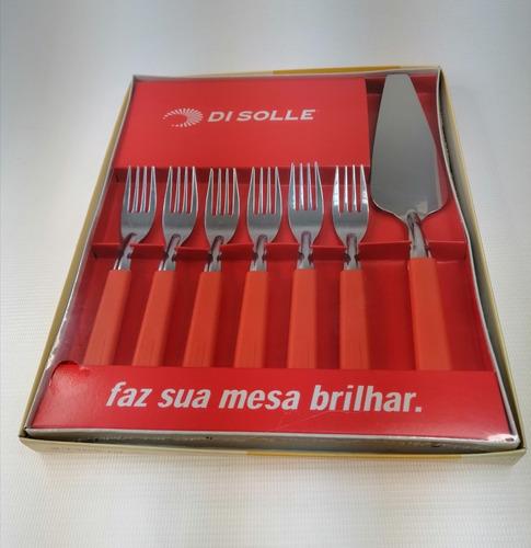Imagen 1 de 3 de Tenedores De Postre + Pala De Torta Di Solle
