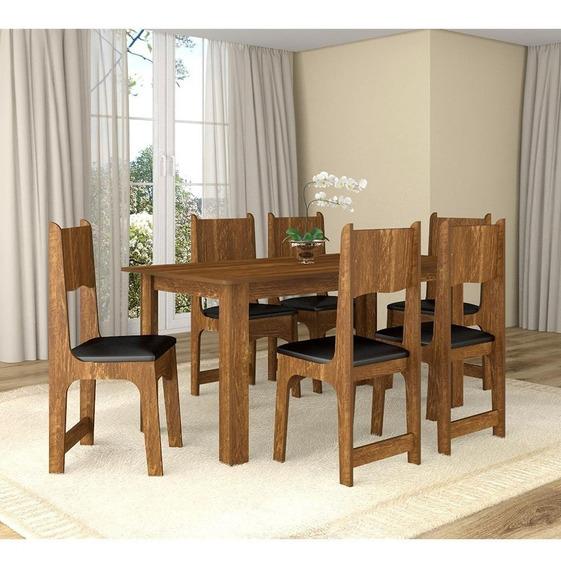 Conjunto De Mesa Com 6 Cadeiras Perola Sonetto