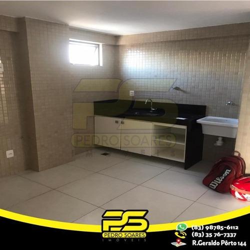 Imagem 1 de 7 de Kitnet Com 1 Dormitório Para Alugar, 30 M² Por R$ 980,00/mês - Tambauzinho - João Pessoa/pb - Kn0004