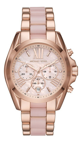 Relógio Michael Kors Feminino Cronógrafo Rosa Mk6830/1jn