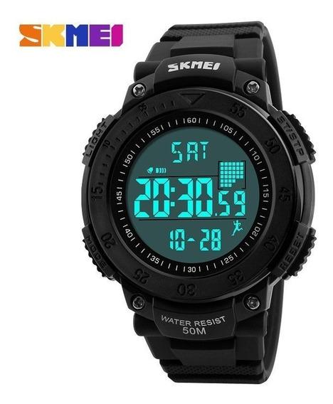 Relógio Led Masculino Skmei Digital Pedômetro Prova D