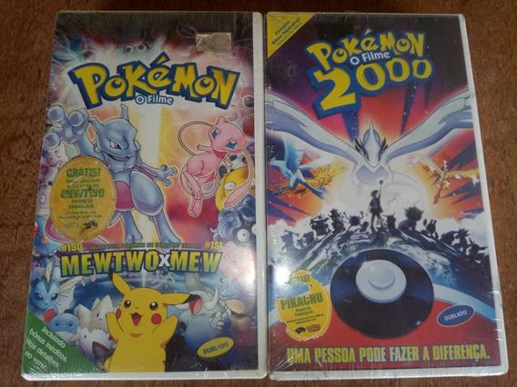 Vhs Pokemon O Filme E Pokemon 2000 - Lacrados Com Card Promo