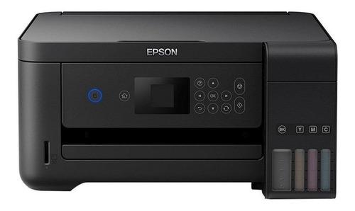 Impressora a cor Epson EcoTank L4160 com wifi preta 110V