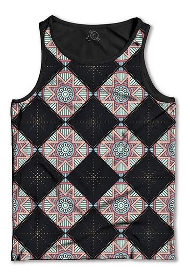 Regata Padrão Xadrez - Mandala Camiseta Regata Masculina