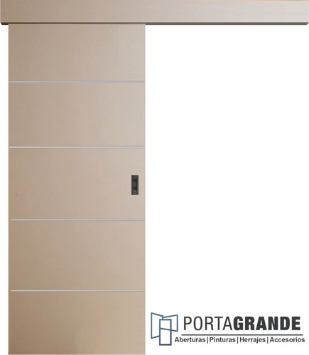 Puerta Corrediza Colgante Placa Económica+ Kit De 60 O 70