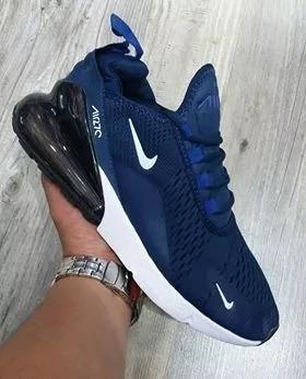 siempre popular más barato bien fuera x Tenis Zapatillas Nike Air Max 270 Azul Blanco Hombre 2018