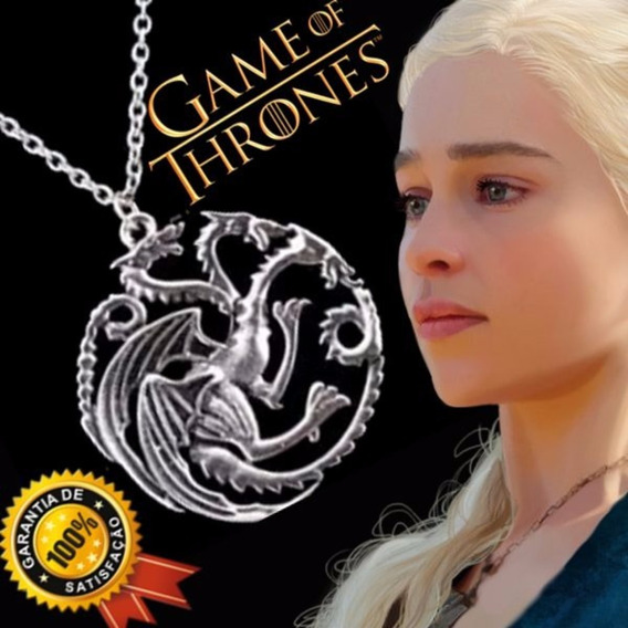 Colar Daenerys Targaryen Dragão - Game Of Thrones
