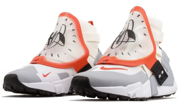 Tênis Nike Air Huarache Gripp Grey Orange Imediato