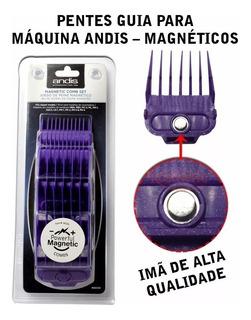 Combo 5 Pentes Guia Magnéticos Para Máquinas Andis