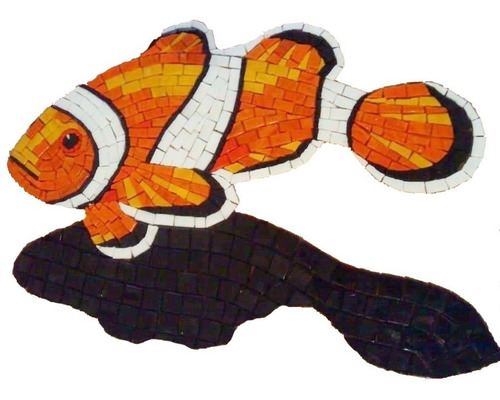 Imagen 1 de 6 de Figura Mosaico Pez Payaso Nemo De 50 Cms.para Alberca