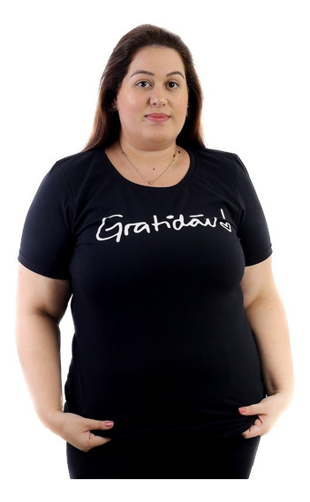 Kit Com 3 Camisetas Blusa T-shirt Plus Size
