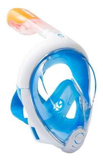 Máscara De Buceo Antiniebla Snorkel Caracompleta Mvd Sport
