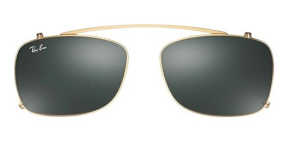 Ray-ban Clip On Rx5228c 250071 53 - Dourado/verde Clássico
