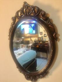 Conjunto Espelho E Aparador Antigo - Talhado A Mão - Anos 50