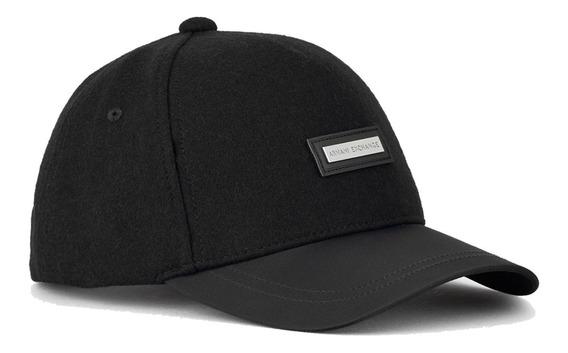 Gorra A   X Armani Exchange De Lana Placa Central New Hat