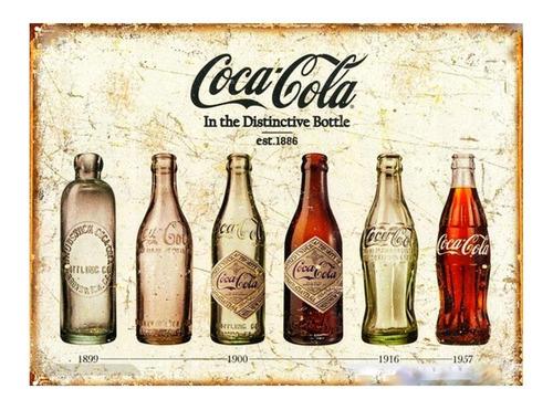 Chapa Decorativa Coca Cola Retro Vintage Vieja Bebidas
