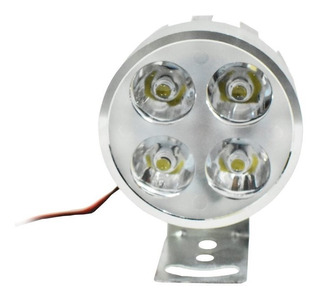 1 Faros 4 Led Redondo 12 W Estrobo Flash- Varios Colores