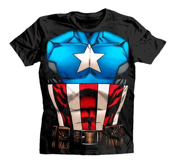 Civil War Playera Capitan America Para Caballero Original