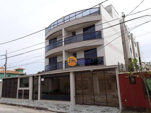 Ótimo Apartamento Com 2 Dormitórios À Venda, 67 M² Por R$ 320.000 - Costazul - Rio Das Ostras/rj - Ap0583